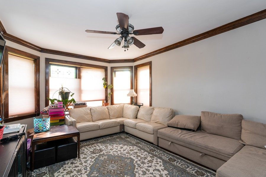 Real Estate Photography - 3412 N Avers Avenue, Chicago, IL, 60618 - First Floor Living Room