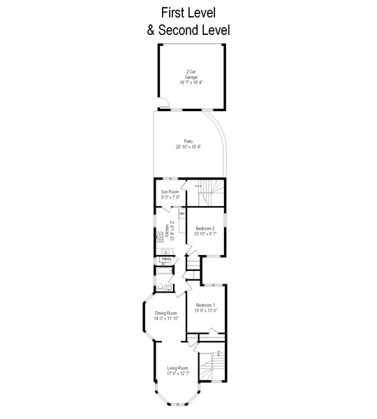 Real Estate Photography - 3412 N Avers Avenue, Chicago, IL, 60618 - Floor Plan