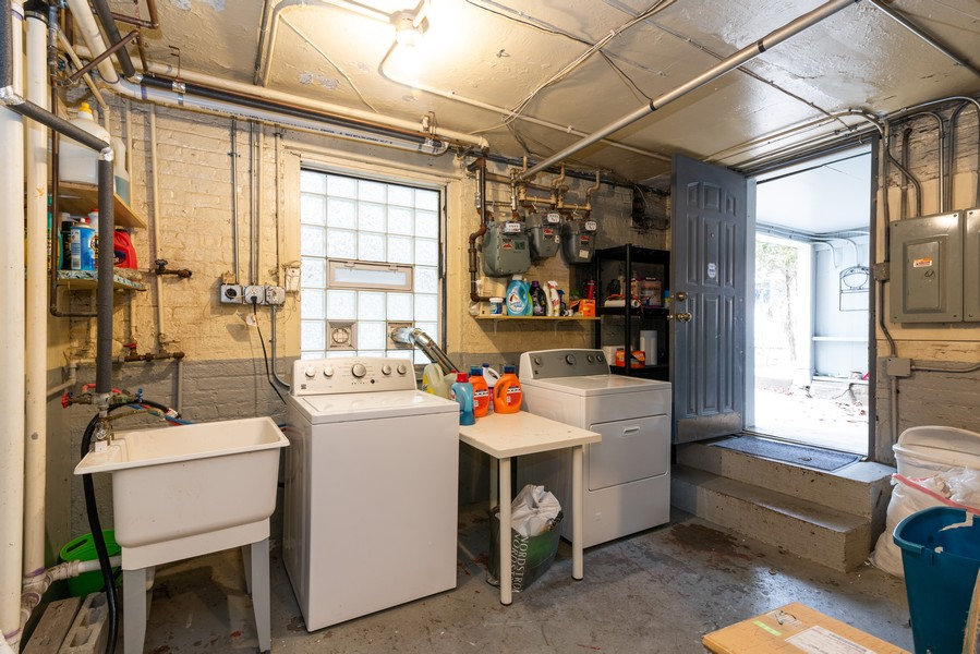 Real Estate Photography - 3412 N Avers Avenue, Chicago, IL, 60618 - Laundry Room