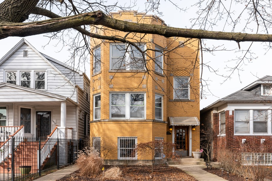 Real Estate Photography - 3412 N Avers Avenue, Chicago, IL, 60618 - Front View