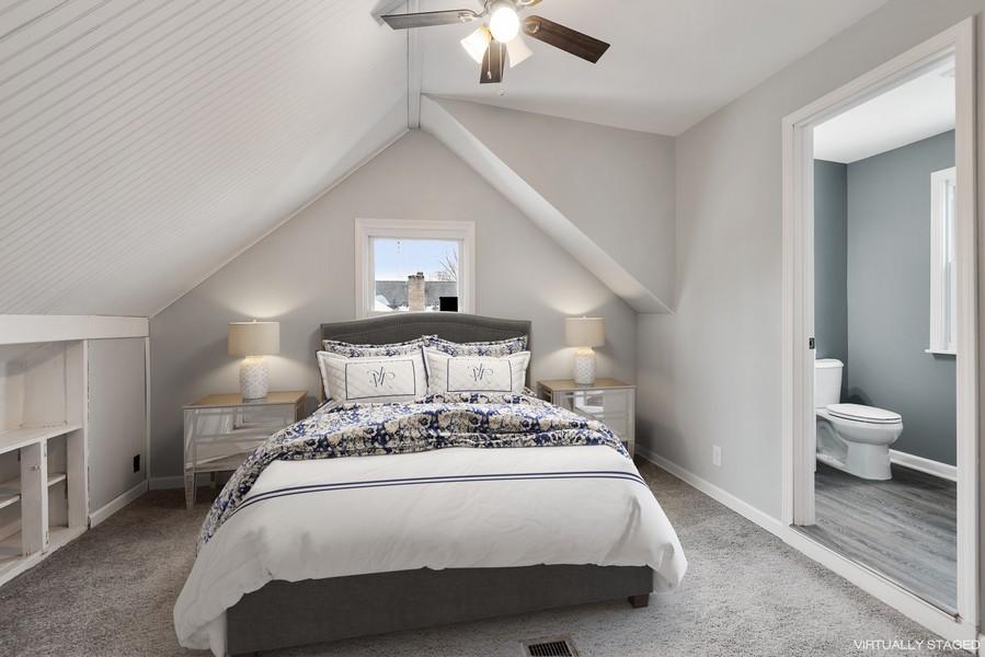 Real Estate Photography - 2612 Willa Drive, St. Joseph, MI, 49085 - Master bedroom w/full bath
