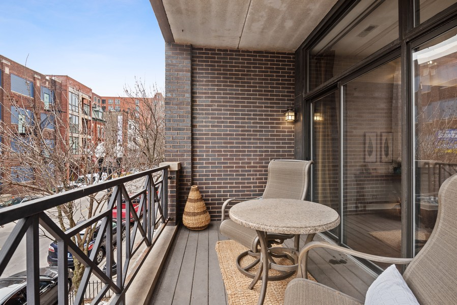 Real Estate Photography - 1520 N. Sedgwick #2A, Chicago, IL, 60610 - Balcony