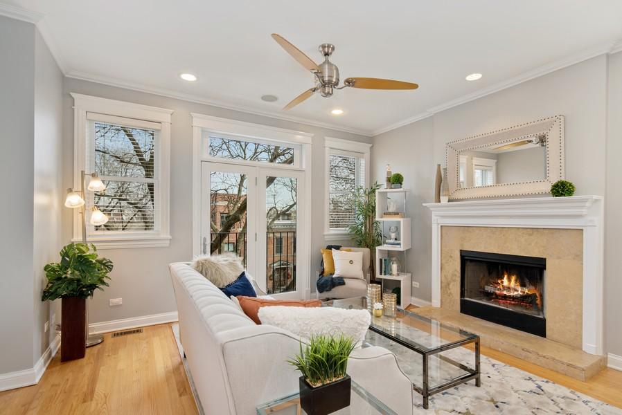 Real Estate Photography - 2630 North Washtenaw, Unit 3S, Chicago, IL, 60647 - Living Room