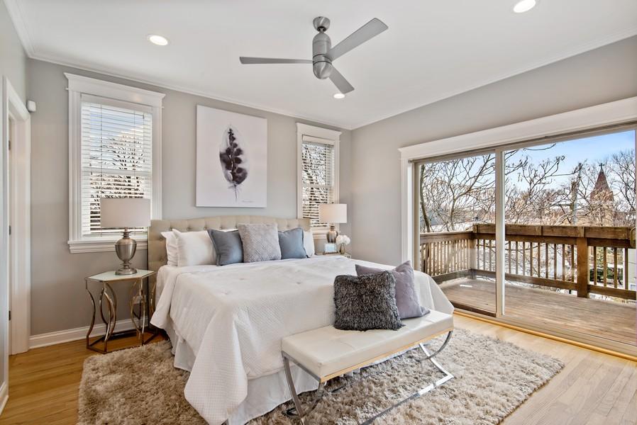 Real Estate Photography - 2630 North Washtenaw, Unit 3S, Chicago, IL, 60647 - Master Bedroom