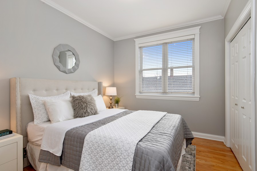 Real Estate Photography - 2630 North Washtenaw, Unit 3S, Chicago, IL, 60647 - 2nd Bedroom