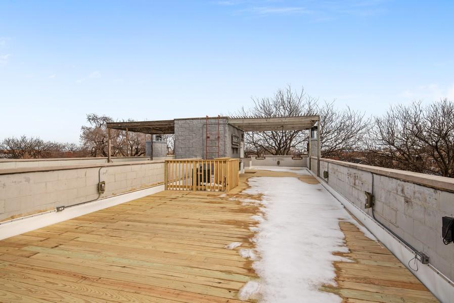 Real Estate Photography - 2630 North Washtenaw, Unit 3S, Chicago, IL, 60647 - Roof Deck