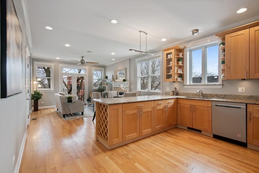 Real Estate Photography - 2630 North Washtenaw, Unit 3S, Chicago, IL, 60647 - Great Room