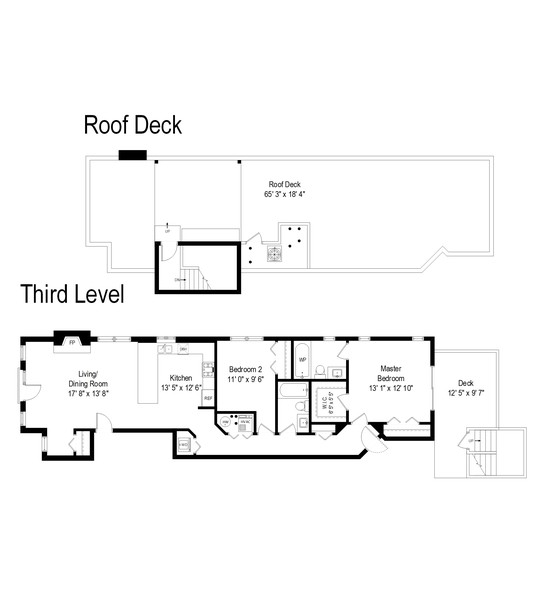 Real Estate Photography - 2630 North Washtenaw, Unit 3S, Chicago, IL, 60647 - Floor Plan