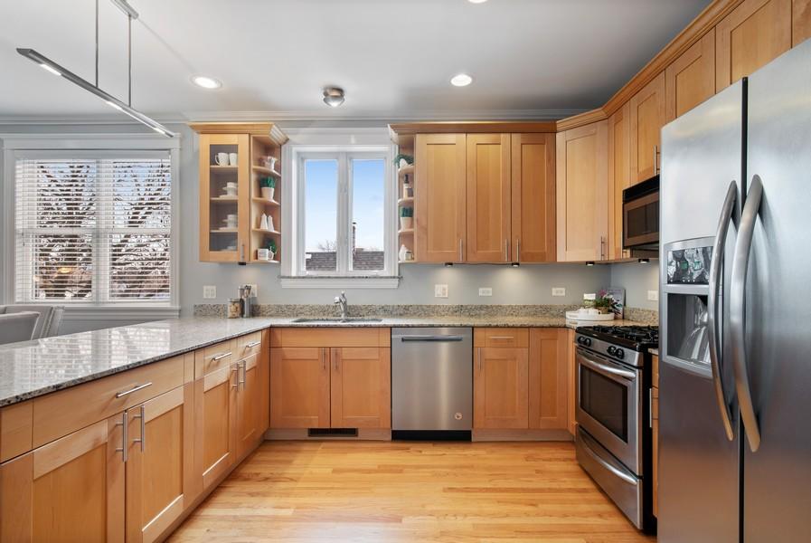 Real Estate Photography - 2630 North Washtenaw, Unit 3S, Chicago, IL, 60647 - Kitchen
