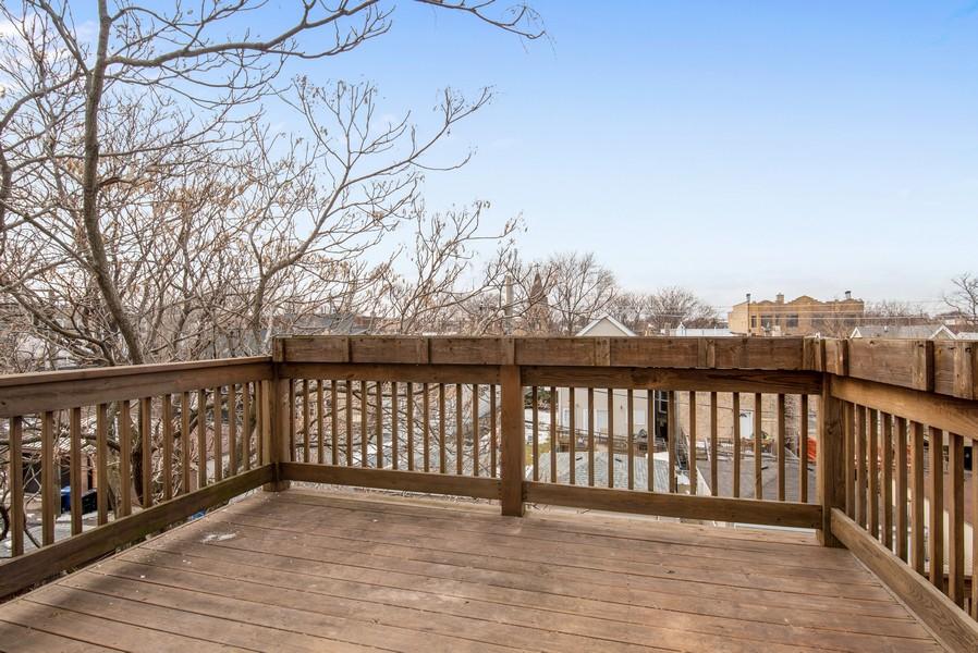 Real Estate Photography - 2630 North Washtenaw, Unit 3S, Chicago, IL, 60647 - Deck