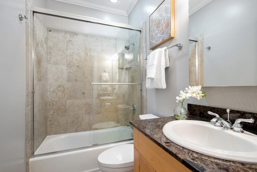 Real Estate Photography - 2630 North Washtenaw, Unit 3S, Chicago, IL, 60647 - 2nd Bathroom