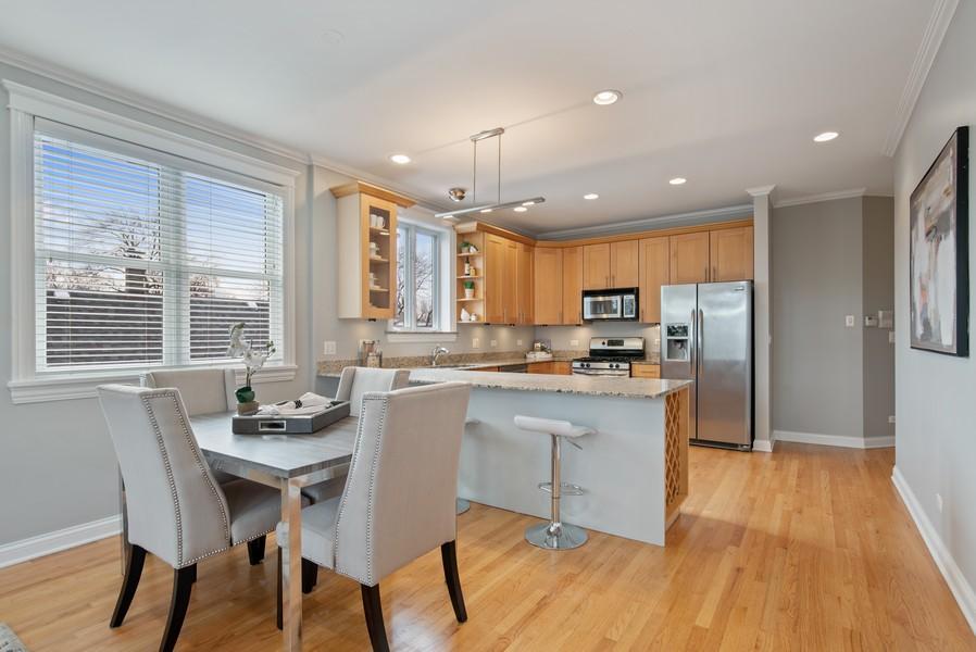 Real Estate Photography - 2630 North Washtenaw, Unit 3S, Chicago, IL, 60647 - Kitchen / Dining Room