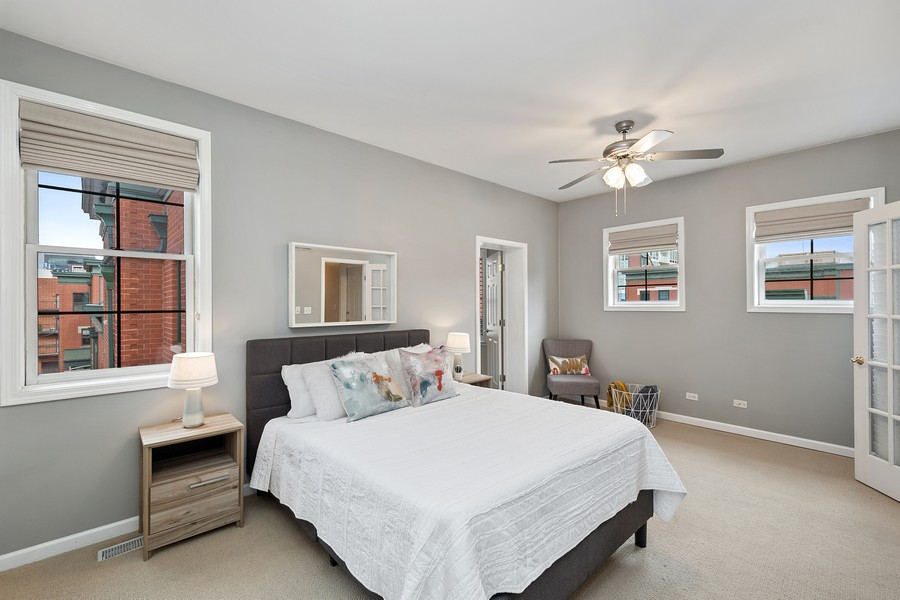 Real Estate Photography - 1034 W Monroe, Chicago, IL, 60607 - Master Bedroom