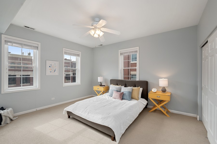 Real Estate Photography - 1034 W Monroe, Chicago, IL, 60607 - Bedroom