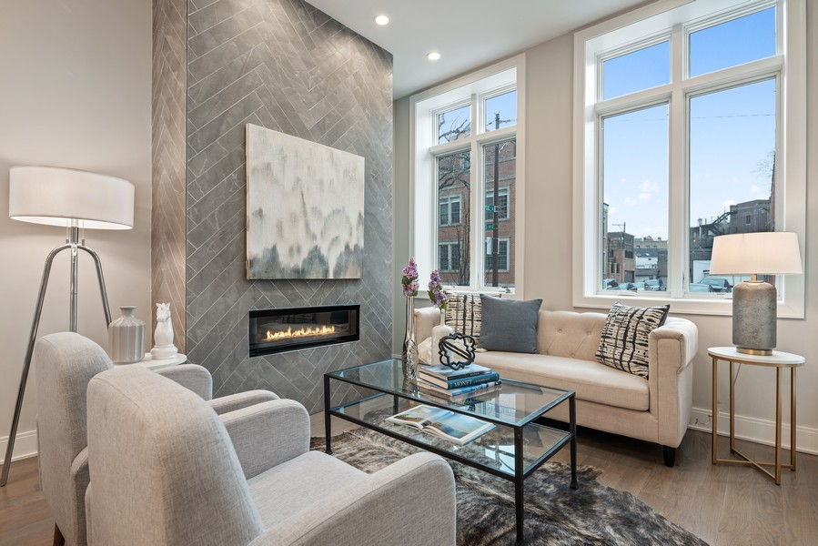 Real Estate Photography - 1860 N Maud Ave, Chicago, IL, 60614 - Living Room