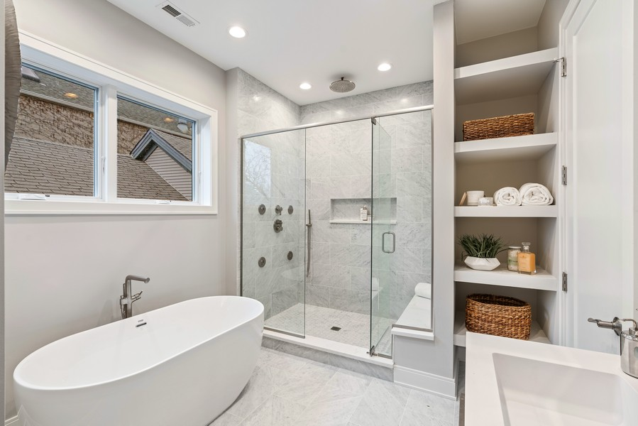 Real Estate Photography - 1860 N Maud Ave, Chicago, IL, 60614 - Master Bathroom