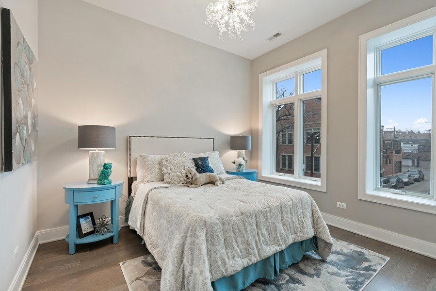 Real Estate Photography - 1860 N Maud Ave, Chicago, IL, 60614 - 2nd Bedroom