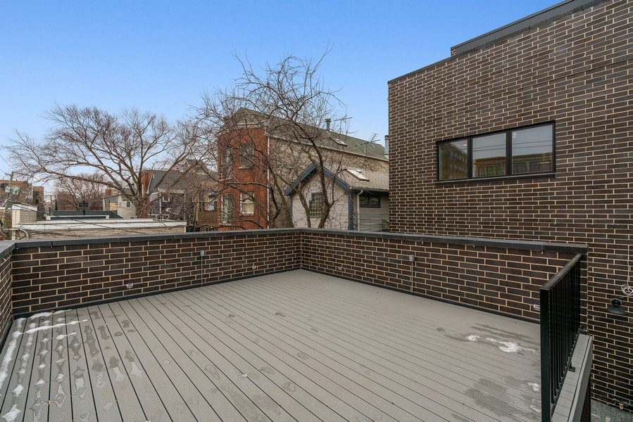 Real Estate Photography - 1860 N Maud Ave, Chicago, IL, 60614 - Deck