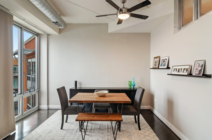 Real Estate Photography - 4814 N Clark St, Unit 511, Chicago, IL, 60640 - Dining Room