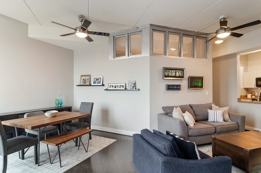 Real Estate Photography - 4814 N Clark St, Unit 511, Chicago, IL, 60640 - Living Room / Dining Room