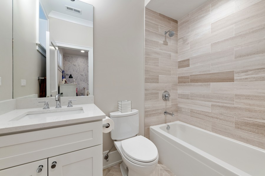 Real Estate Photography - 3729 N Wilton Ave, 1S, Chicago, IL, 60613 - 3rd Bathroom