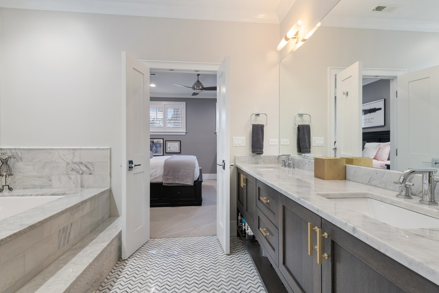 Real Estate Photography - 3729 N Wilton Ave, 1S, Chicago, IL, 60613 - Master Bathroom