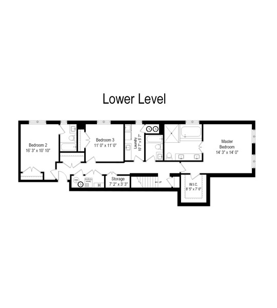 Real Estate Photography - 3729 N Wilton Ave, 1S, Chicago, IL, 60613 - Floor Plan