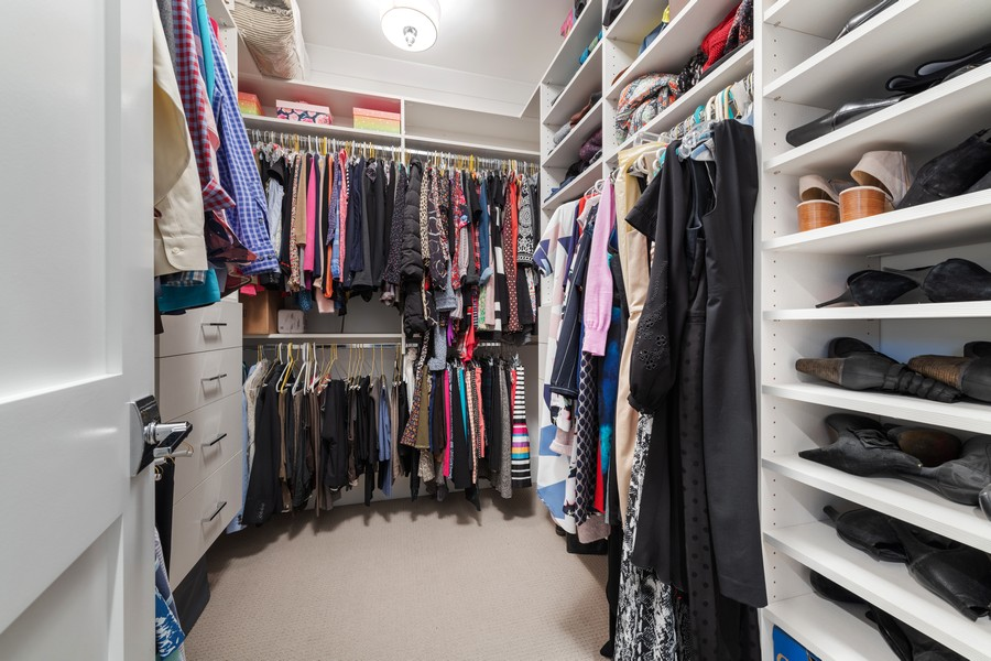 Real Estate Photography - 3729 N Wilton Ave, 1S, Chicago, IL, 60613 - Master Bedroom Closet