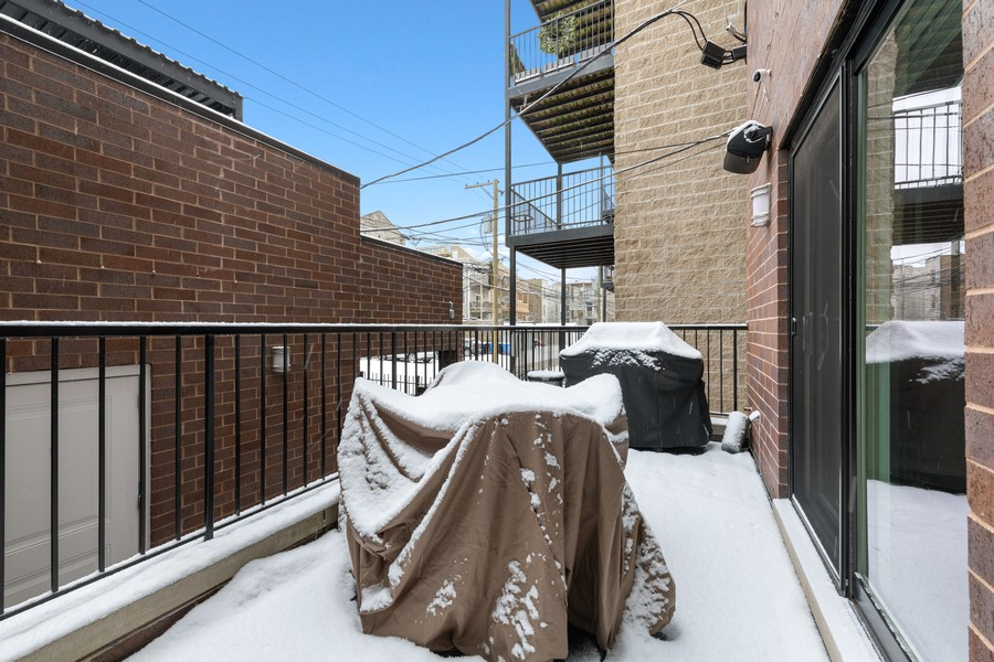 Real Estate Photography - 3729 N Wilton Ave, 1S, Chicago, IL, 60613 - Deck