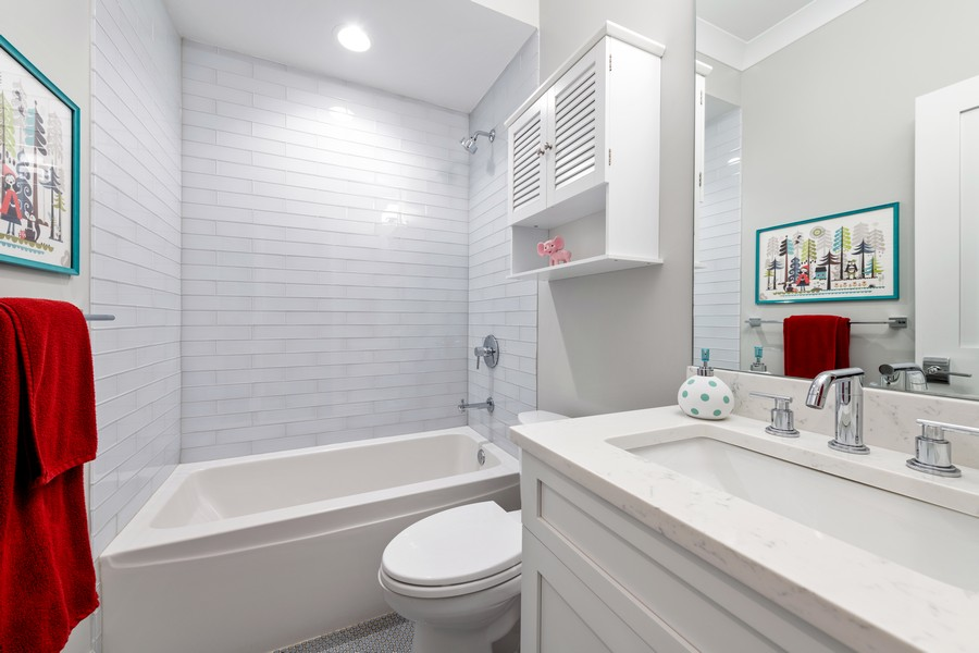 Real Estate Photography - 3729 N Wilton Ave, 1S, Chicago, IL, 60613 - 2nd Bathroom