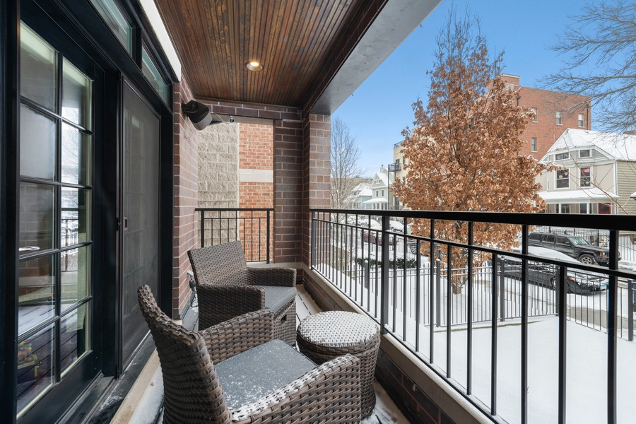 Real Estate Photography - 3729 N Wilton Ave, 1S, Chicago, IL, 60613 - Balcony