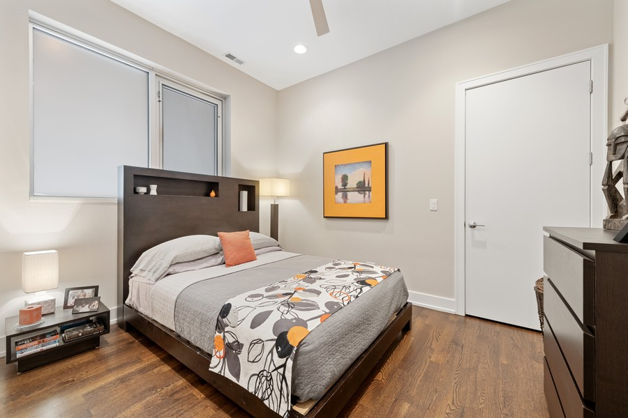 Real Estate Photography - 1335 N Bosworth, 1S, Chicago, IL, 60642 - 2nd Bedroom