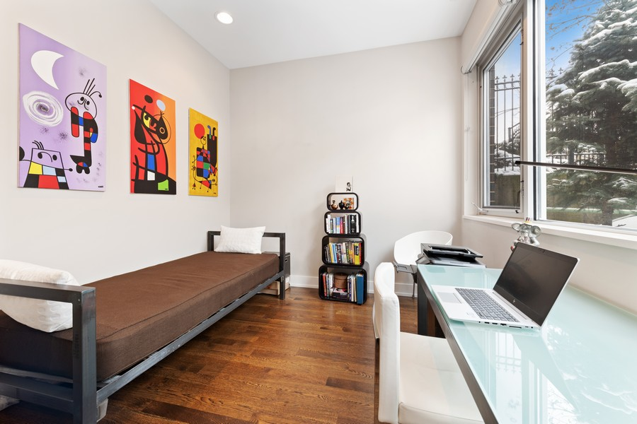 Real Estate Photography - 1335 N Bosworth, 1S, Chicago, IL, 60642 - 3rd Bedroom