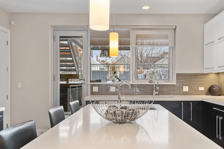 Real Estate Photography - 1335 N Bosworth, 1S, Chicago, IL, 60642 - Kitchen