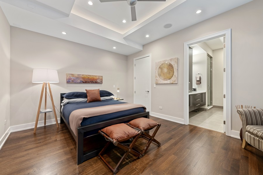 Real Estate Photography - 1335 N Bosworth, 1S, Chicago, IL, 60642 - Master Bedroom