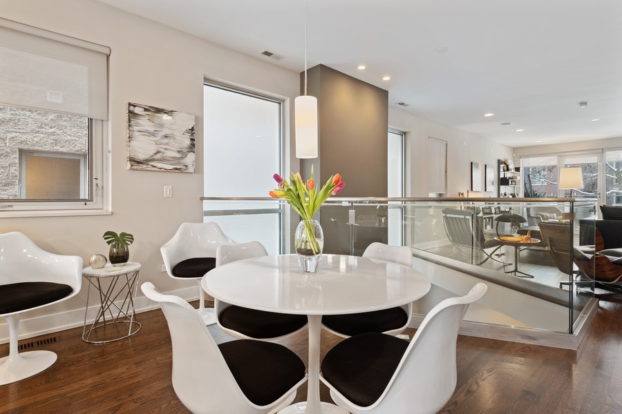 Real Estate Photography - 1335 N Bosworth, 1S, Chicago, IL, 60642 - Dining Room