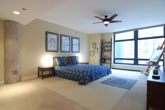 Real Estate Photography - 680 N Lake Shore Dr, 1218, Chicago, IL, 60611 - Master Bedroom
