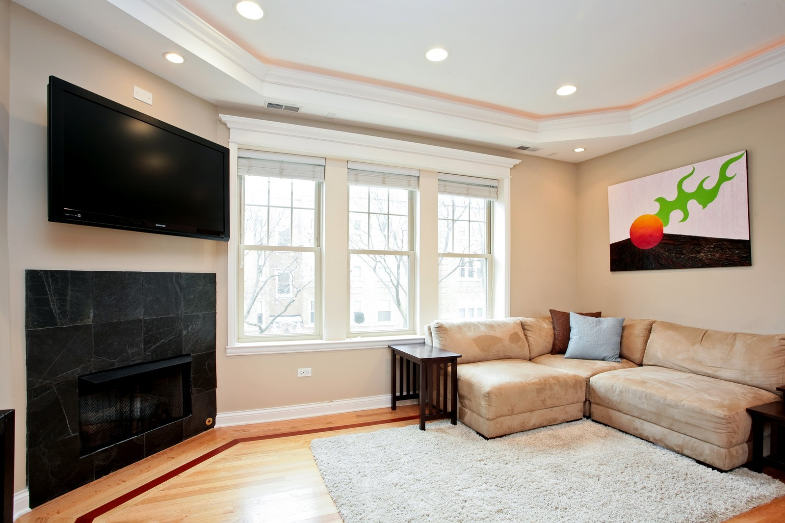 Real Estate Photography - 2646 W Gunnison St, Unit 2, Chicago, IL, 60625 - Living Room