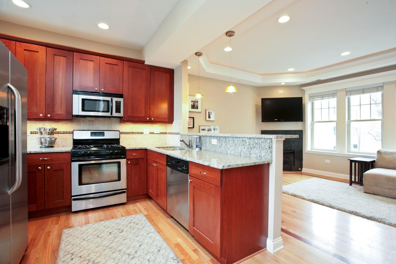 Real Estate Photography - 2646 W Gunnison St, Unit 2, Chicago, IL, 60625 - Kitchen