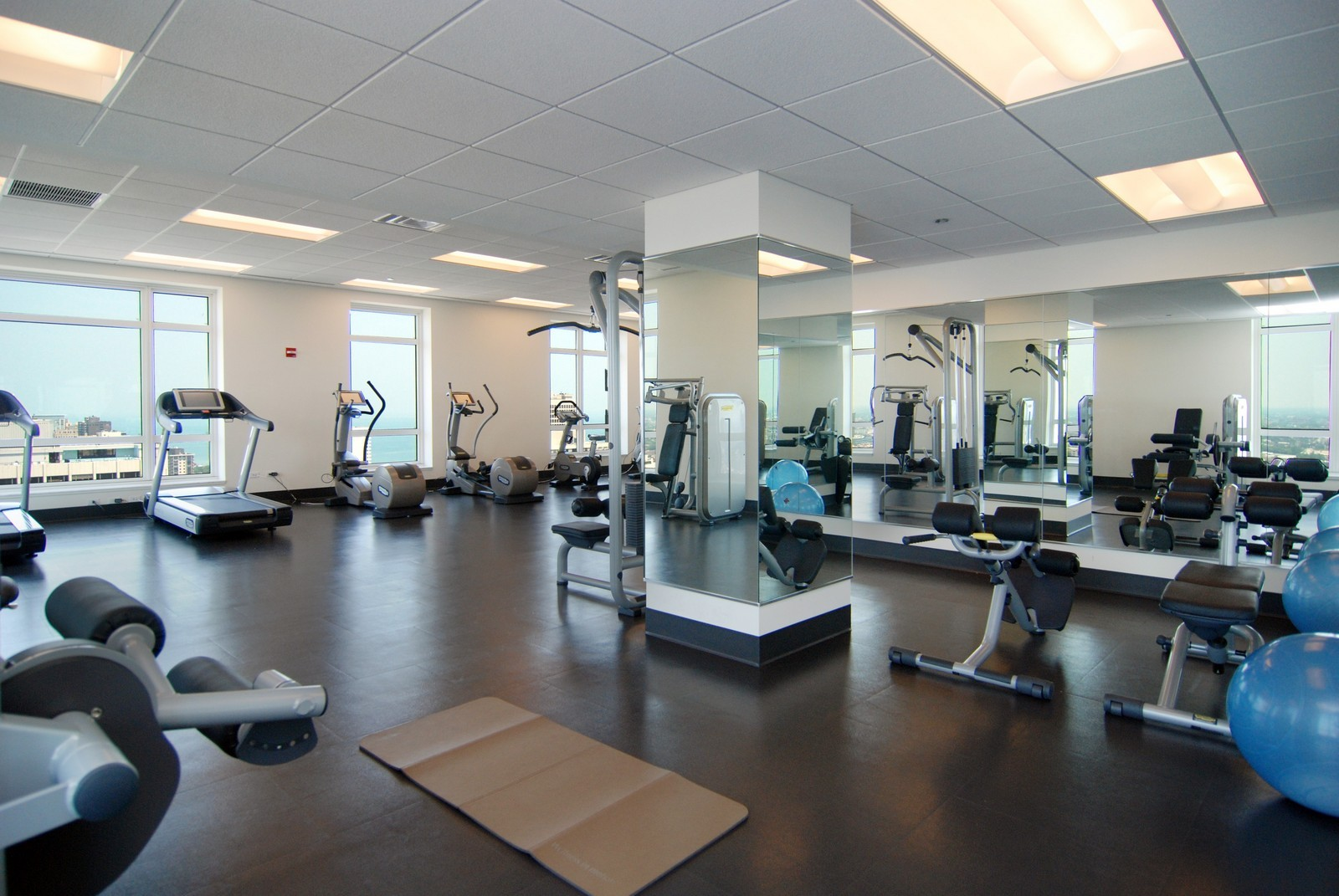 Real Estate Photography - 10 E Delaware Ave, Chicago, IL, 60610 - Gym