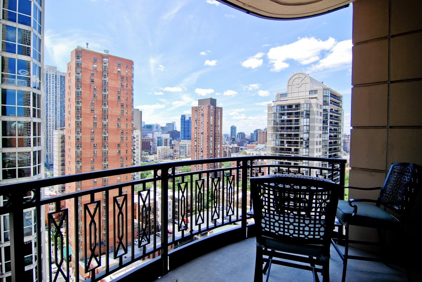 Real Estate Photography - 10 E Delaware Ave, Chicago, IL, 60610 - Balcony