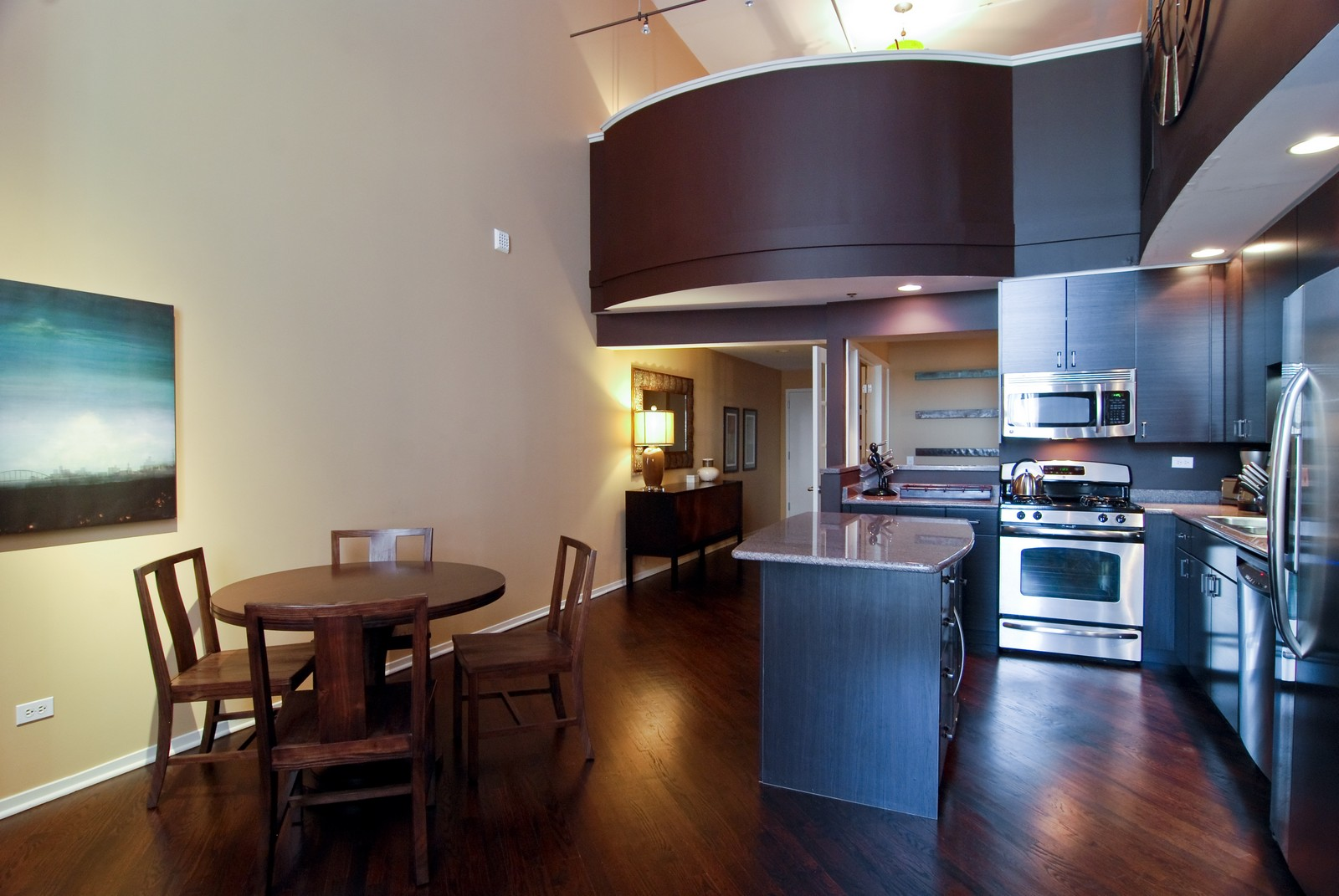 Real Estate Photography - 616 W Fulton, Unit 702, Chicago, IL, 60661 - Kitchen / Dining Room