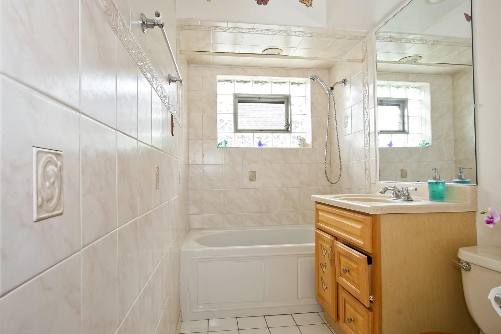 Real Estate Photography - 5813 S Natoma, Chicago, IL, 60638 - Bathroom