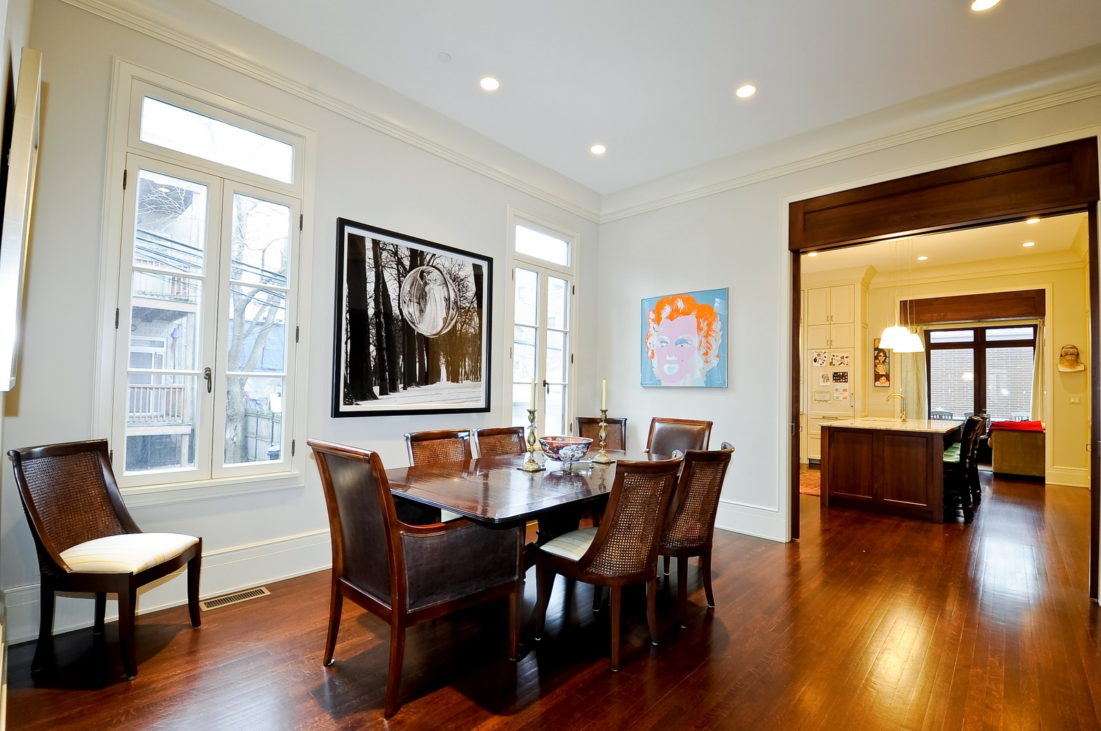 Real Estate Photography - 2214 N Magnolia, Chicago, IL, 60614 - Dining Room