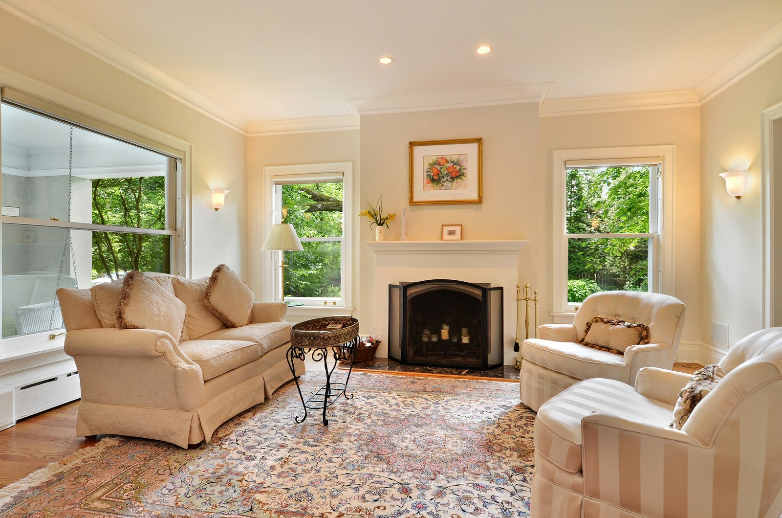 Real Estate Photography - 486 Greenleaf, Glencoe, IL, 60022 - Living Room
