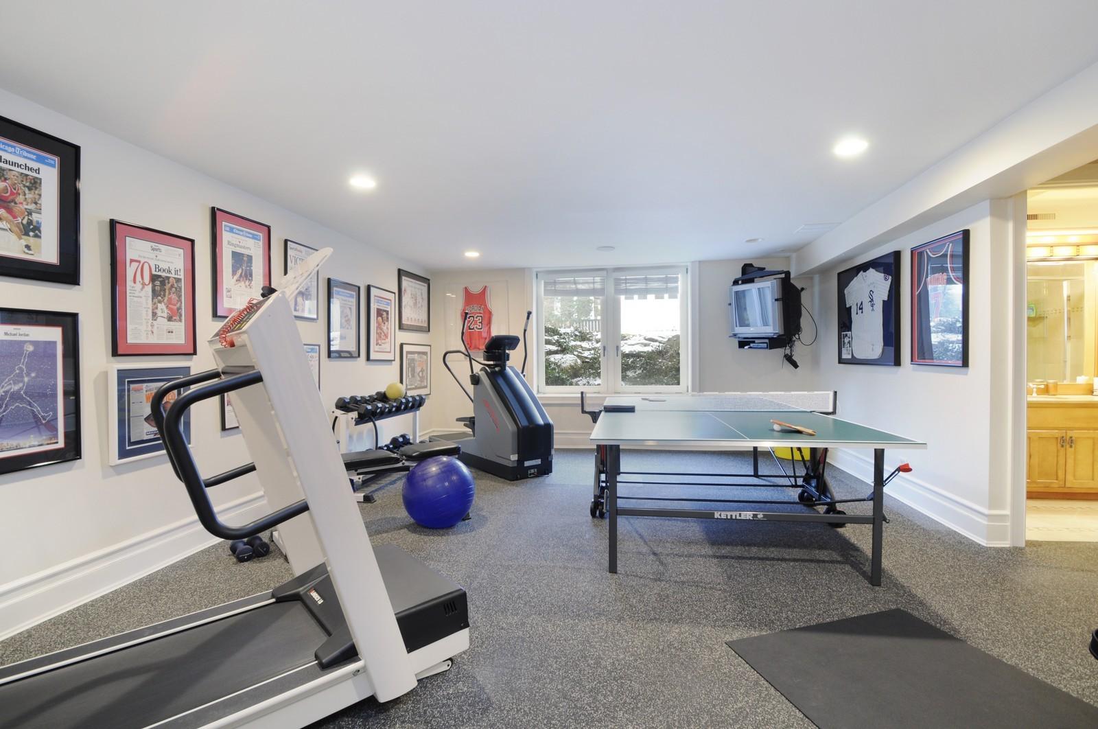 Real Estate Photography - 486 Greenleaf, Glencoe, IL, 60022 - Gym