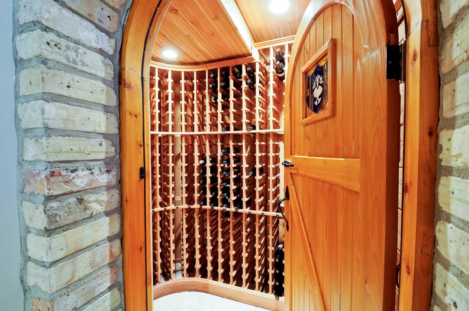 Real Estate Photography - 486 Greenleaf, Glencoe, IL, 60022 - Wine Cellar