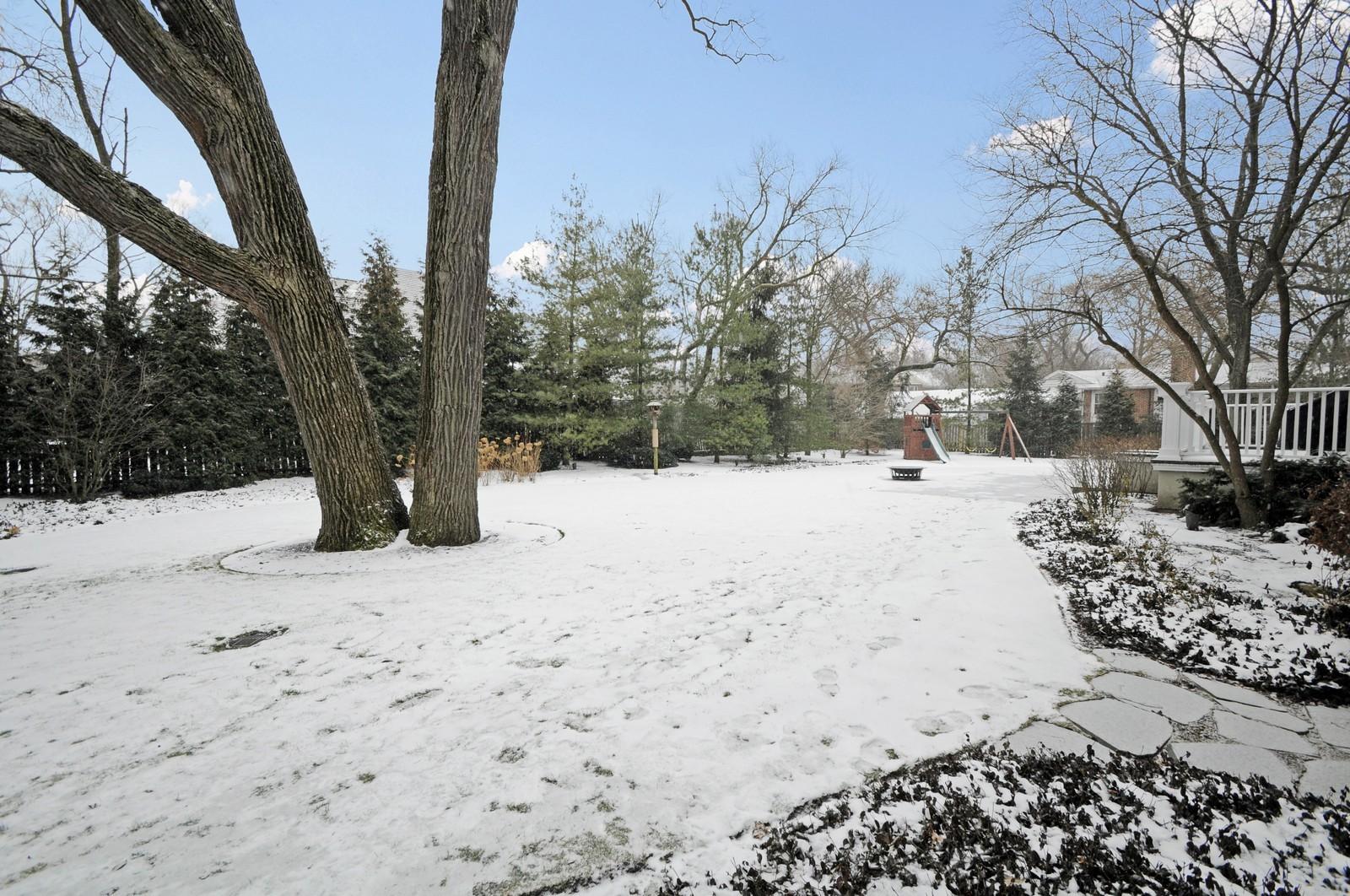 Real Estate Photography - 486 Greenleaf, Glencoe, IL, 60022 - Back Yard