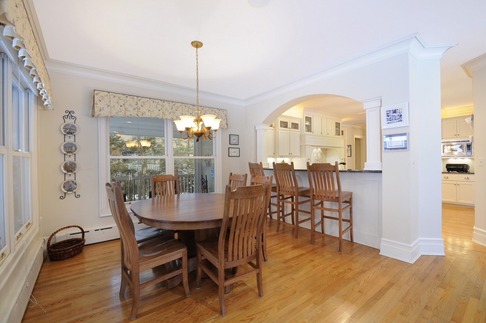 Real Estate Photography - 486 Greenleaf, Glencoe, IL, 60022 - Breakfast Room