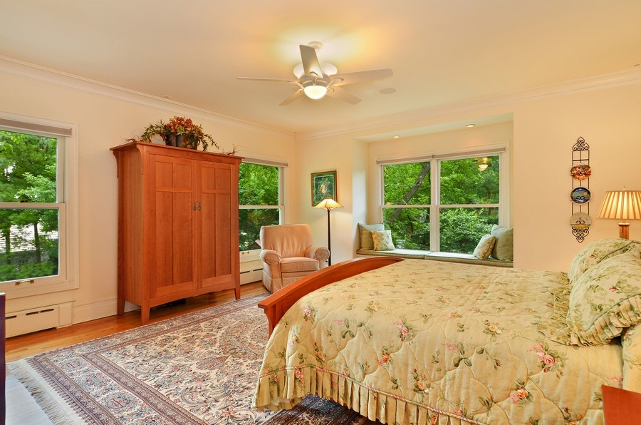 Real Estate Photography - 486 Greenleaf, Glencoe, IL, 60022 - Master Bedroom